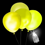 Light-Up Yellow Balloons, White Light with Yellow Balloons (5-pack)