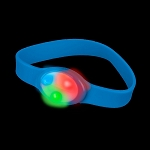LED Flashing Silicone Bracelet, Blue