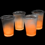 Cool Glow 12oz. Cups with collars and 50 Super Bright Shorties, Orange (50 Pack)