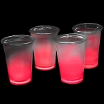 Cool Glow 12oz. Cups with collars and 50 Super Bright Shorties, Red (50 Pack)