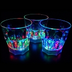 Flashing 8 oz Whiskey Rocks Glass - Liquid Activated