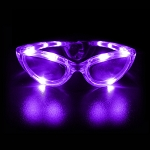 Flashing Sunglasses- Purple