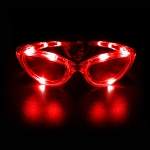 Flashing Sunglasses - Red
