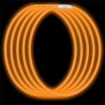 Economy Glow Necklaces: Orange (50-Pack)