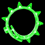Flashing Spike Bracelet - Green