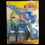 Blue Dolphin Bubble Gun - 2 Bottles
