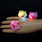 Flashing Jelly Pig Ring
