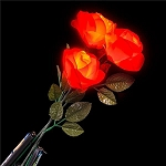 Red Petal LED Rose- Batteries Not Included