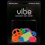 Blacklight Reactive Neon Peace Signs - 24 Piece Set