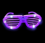 Purple LED Shutter Glasses