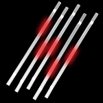 Red Glow Straws (25-Pack)