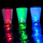 LED Liquid Activated 2 oz Shot Glass RGB