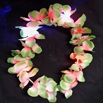 Tropical Green LED Flashing Hawaiian Leis