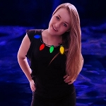 LED Christmas Bulb Necklace: Multicolor