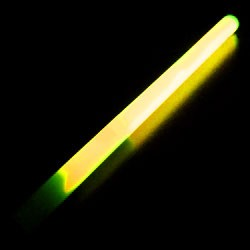"10"" Yellow Concert Glow Wand (24-Pack)"