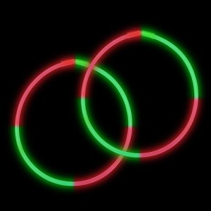 "22"" Bi-Glow Necklaces - Red/Green/Red/Green (50-Pack)"