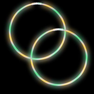 "22"" Swirl Glow Necklaces - Green/Yellow/Purple (50-Pack)"