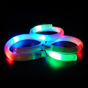 3 LED Flashing Bracelets