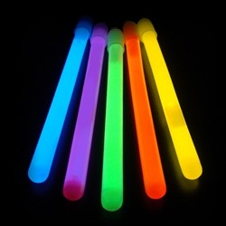 "6"" Slim Glow Sticks- Assorted (50-Pack)"