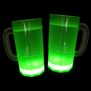 Cool Glow Mugs 12oz. Green (30 per Pack!)