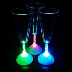 Flashing 8 oz Champagne Glass