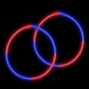 "22"" Bi-Glow Necklaces - Red/Blue/Red/Blue (50-Pack)"