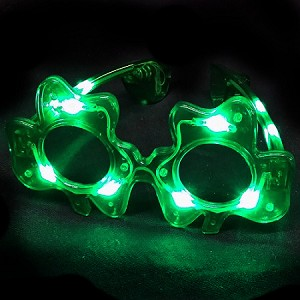 Flashing Shamrock Sunglasses