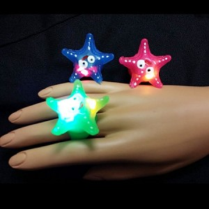 Flashing Jelly Seastar Ring