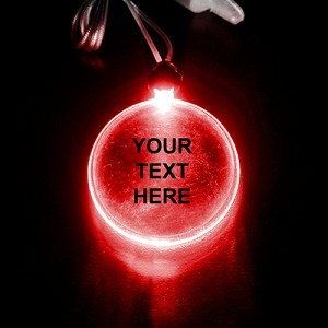 LED Pendant- Red Circle