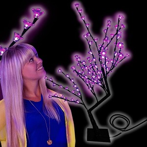 Light Up Flower Tree, Purple
