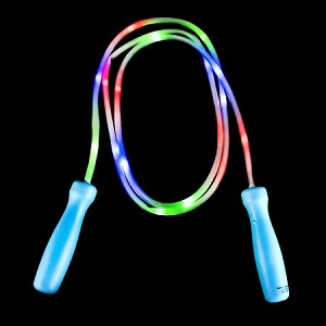"100"" Light Up Jump Rope - Green with Blue Handles"