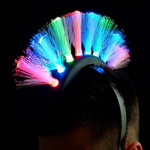 Light-up Fiber Optic Mohawk
