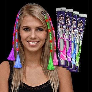 Led light up braided hair extensions light up hair led hair led light up braided hair extensions pmusecretfo Gallery
