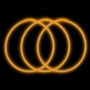 "Orange 22"" Glow Necklaces - Premium (50-Pack)"