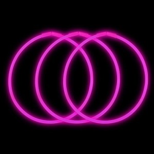 "Pink 22"" Glow Necklaces - Premium (50-Pack)"