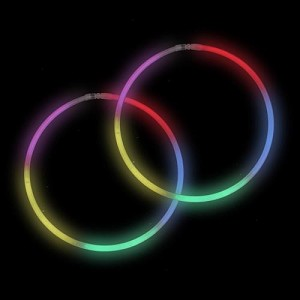 "Rainbow 22"" Glow Necklaces (50-Pack)"