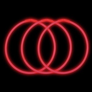 "Red 22"" Glow Necklaces - Premium (50-Pack)"