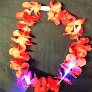 Red LED Flashing Hawaiian Leis