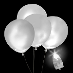 Light-Up White Balloons, White Light with White Balloons (5-pack)