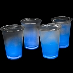 Cool Glow 12oz. Cups with collars and 50 Super Bright Shorties, Blue (50 Pack)