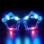 Flashing Star Sunglasses- Red/White/Blue