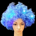Blue Flashing Wig