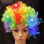 Rainbow Flashing Wig