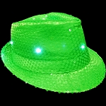 Flashing Fedora- Neon Green