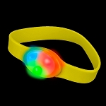 Flashing Silicone Bracelet, Yellow