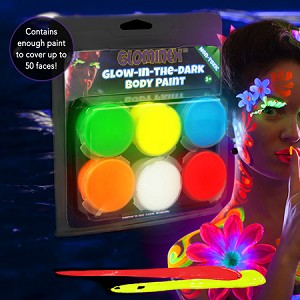 Glow Body Paint 6-Pack Assorted